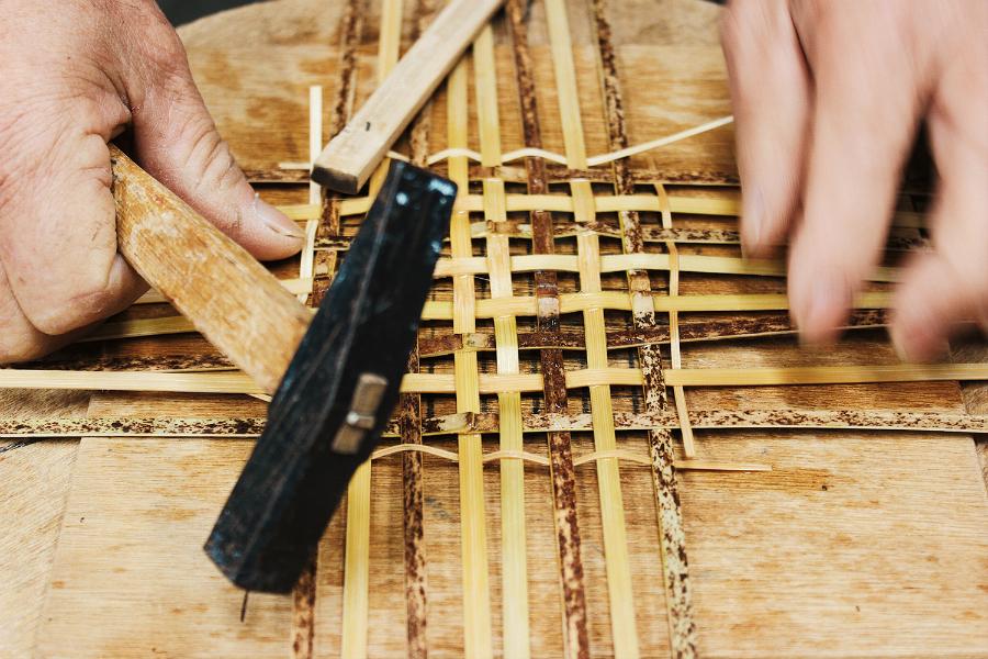 竹かご編み